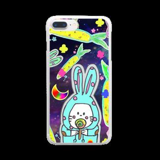 GiKISのうさうさ高麗人参 Clear smartphone cases