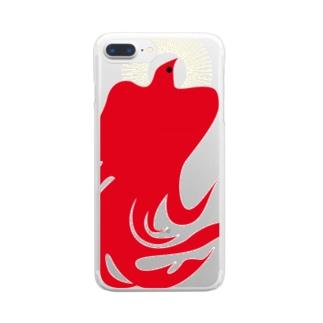 ヒノトリ Clear smartphone cases