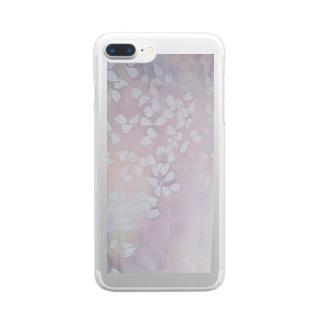 桜 今栄りなり Clear smartphone cases