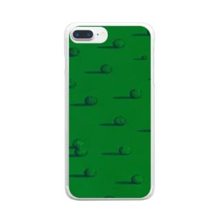 まぶたの裏の味方 Clear smartphone cases