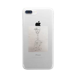 とぶ男くん Clear smartphone cases
