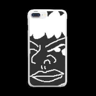 uyuyuのシロロ Clear smartphone cases