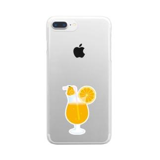 オレンジペンギン Clear smartphone cases