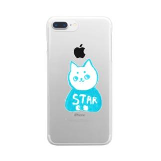 麻呂眉川さん「STAR」 Clear smartphone cases