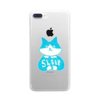 末広さん「SLEEP」 Clear smartphone cases