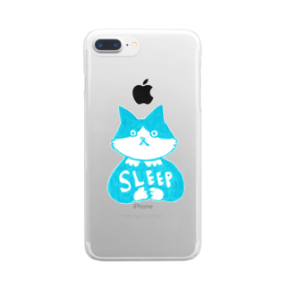 vagの末広さん「SLEEP」 Clear smartphone cases