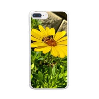 柊 舞 * リベルタのはちとみつ Clear smartphone cases