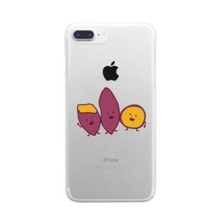 さつまいもブラザース Clear smartphone cases
