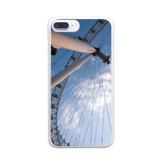 ろんどんのおめめ Clear smartphone cases