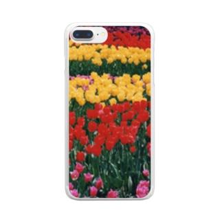 虹色の道 Clear smartphone cases
