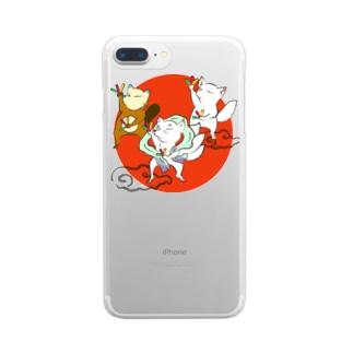 オタゲー妖狐 Clear smartphone cases