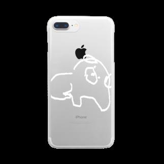スペースさねぴのしろいいぬ Clear smartphone cases