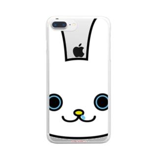鼻たれウサギ Clear smartphone cases