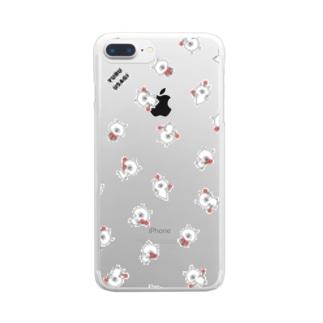 ゆるうさぎ マラカス Clear smartphone cases