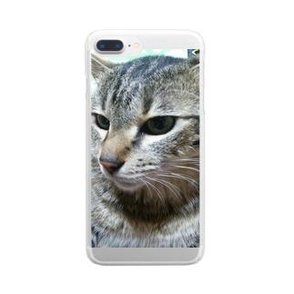 強運の持ち主ももちゃんです(^▽^)/ Clear smartphone cases