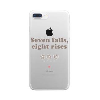 七顛八起 Clear smartphone cases
