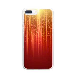 オレンジ色の光の雨! クリアスマートフォンケース