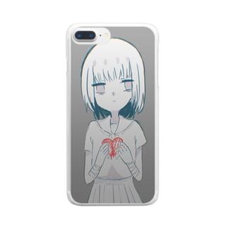 傷だらけのはーと Clear smartphone cases