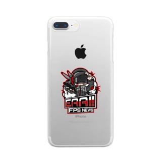 新ロゴ「EAA(いぇあ)軍曹(仮)」 v2 Clear smartphone cases