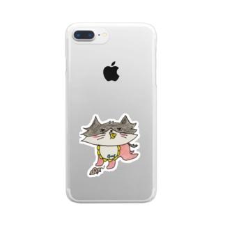 ミッシェルベイビー Clear smartphone cases