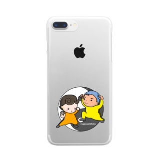 考えるな☆感じろ Clear smartphone cases