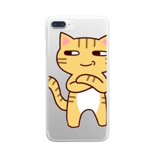 にやり猫 Clear smartphone cases