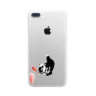 ぼや鼠 Clear smartphone cases
