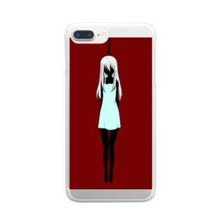 首吊りちゃん Clear smartphone cases
