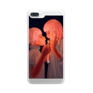 Candle girl Clear smartphone cases