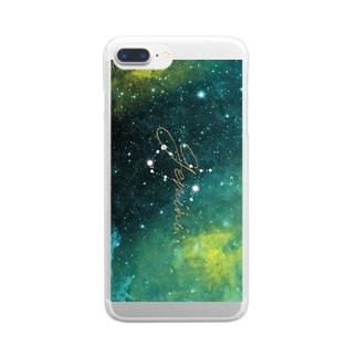 1星座シリーズ 双子座 Clear smartphone cases