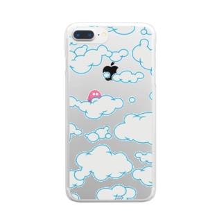 曇り空を見上げると、、-Live in the clouds- クリアスマートフォンケース