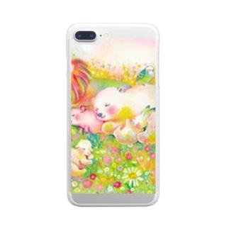 のんびり Clear smartphone cases