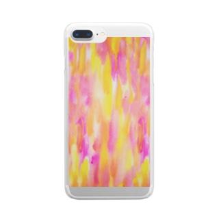 カラフルrain♡ Clear smartphone cases