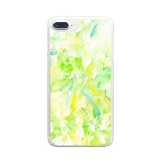 新緑の季節☆ Clear smartphone cases