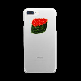 明季 aki_ishibashiのイクラちゃん Clear smartphone cases