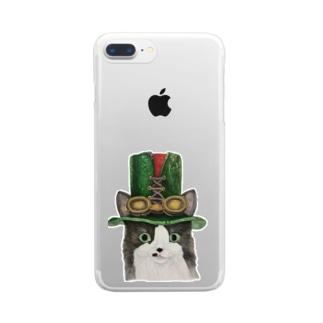 スチームパンクなミッシェル Clear smartphone cases
