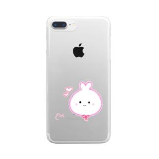 うさみ Clear smartphone cases