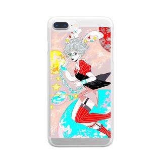 ウサギおいしカノ宇宙 Clear smartphone cases