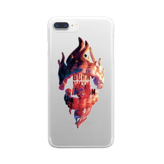 BURN WITH PASSION Clear smartphone cases