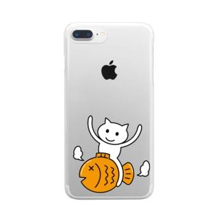 たいねこくんのグッズ Clear smartphone cases