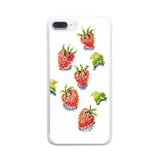 イチゴころり・・・ Clear smartphone cases