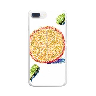 オレンジ色の恋 Clear smartphone cases