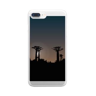 サンセットバオバブ Clear smartphone cases