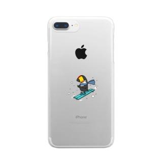スキーヤー Clear smartphone cases