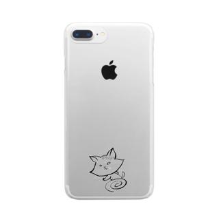 すばしっこい猫 Clear smartphone cases