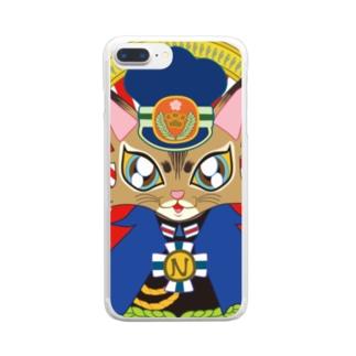猫の駅長さん(ソマリ猫プリンちゃん)  Clear smartphone cases