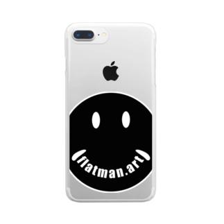 ニコっとflatman.art です。 クリアスマートフォンケース