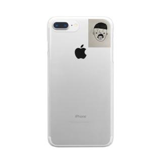 小僧inおかっぱ Clear smartphone cases