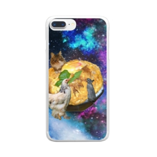 space catとなかまたち Clear smartphone cases