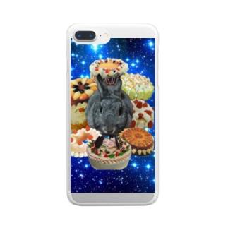 銀河栄光伝説 もずく軍 Clear smartphone cases